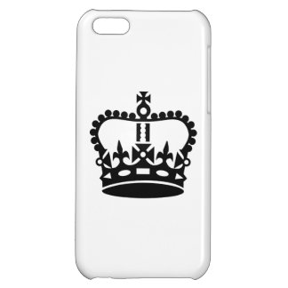 Black king crown case for iPhone 5C