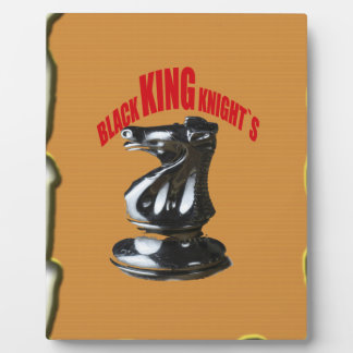 Black King Knight`s With Background Plaques