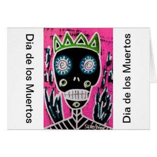 Black King Sugar Skull Angel Card