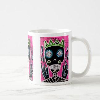 Black King Sugar Skull Angel Mugs