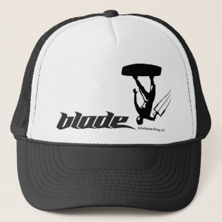 BLACK kite blade web Trucker Hat