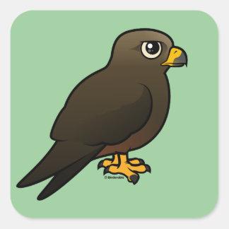 Black Kite Square Sticker