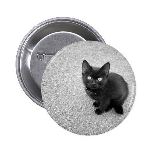 Black Kitten Buttons