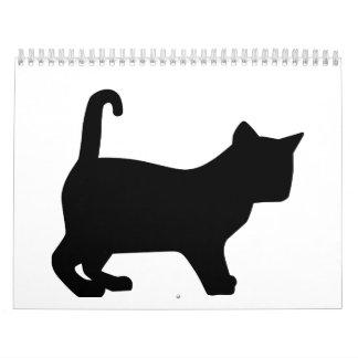 Black kitten cat calendar
