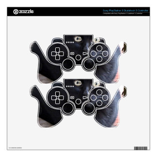 Black Kitten Cat Skins For PS3 Controllers