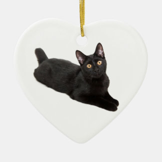 Black Kitten Ceramic Ornament