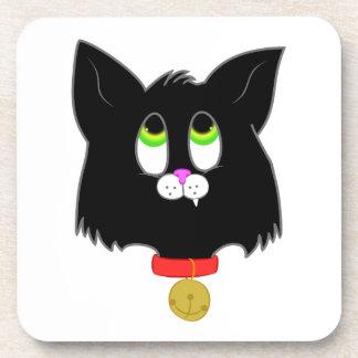 Black Kitten Beverage Coasters