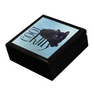 Black Kitten giftbox Keepsake Box