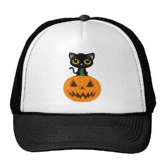Black Kitten & Jack O Lantern Hat