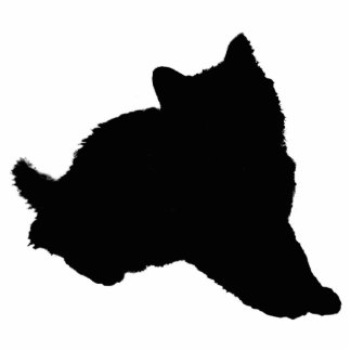 Black Kitten Silhouette Cutout