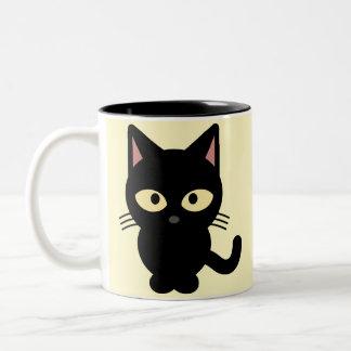 Black Kitten Two-Tone Coffee Mug
