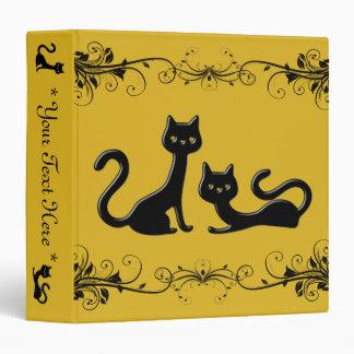 Black Kittens Cartoon II Binder