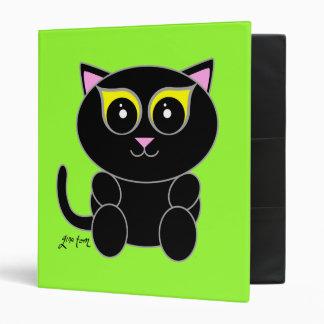 Black Kitty 3 Ring Binder