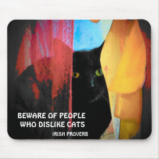 Black kitty and Irish proverb Mouse Pad