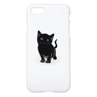 Black kitty cartoon iPhone 7 case