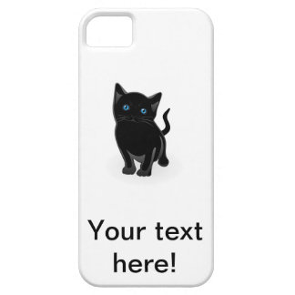 Black kitty cartoon iPhone SE/5/5s case