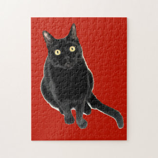 Black Kitty Cat Adorable Puzzle