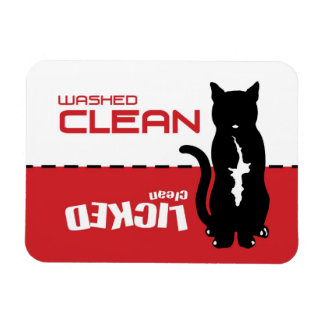 Black Kitty Cat Dishwasher Magnet - Licked Clean
