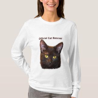 Black Kitty Cat-lover Pet Rescue Design T-Shirt