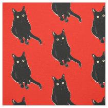 Black Kitty Cat Photography Fabric