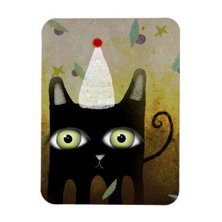 Black Kitty Christmas Premium Magnet