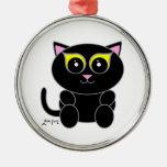 Black Kitty Christmas Tree Ornament