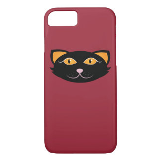 Black Kitty Face iPhone 8/7 Case