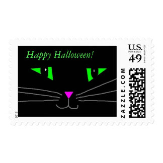 Black Kitty Face Postage