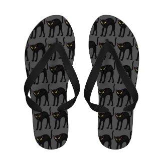 Black Kitty: Flip Flop Sandals