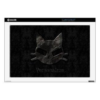 Black Kitty Gothic Personalized Laptop Skin musicskins_skin
