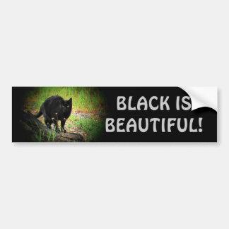 Black (Kitty) is Beautiful Car Bumper Sticker