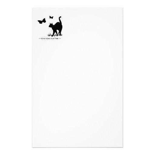 Black Kitty Kats R Free Stationary Stationery