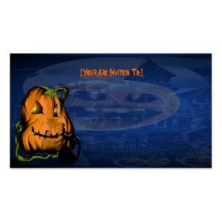 Black Kitty N Pumpkin  invitation_4x925_horizon... Business Card
