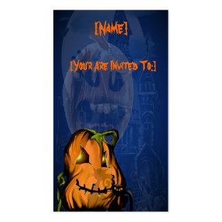 Black Kitty N Pumpkin  invitation_4x925_vertica... Business Card