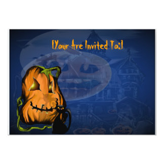 Black Kitty N Pumpkin  invitation_55x425_horizo... Card