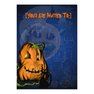 Black Kitty N Pumpkin  invitation_55x425_vertic... Card