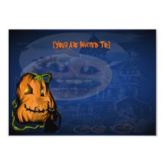 Black Kitty N Pumpkin  ,invitation_5x7_horizont... Card
