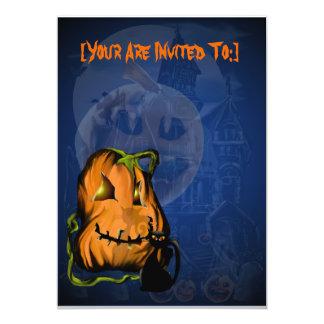Black Kitty N Pumpkin  invitation_5x7_vertical,... Card