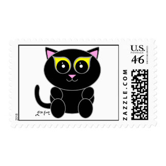 Black Kitty Postage Stamps