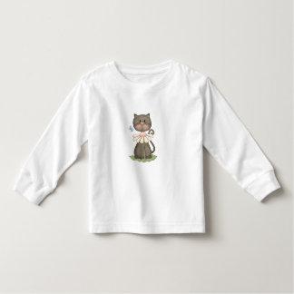 Black Kitty w/ Flower Toddler T-shirt