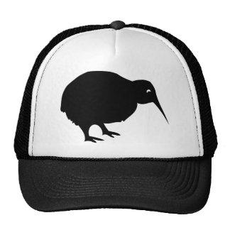 black kiwi trucker hat