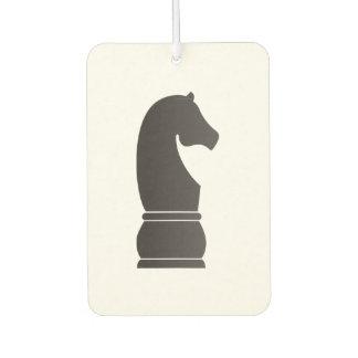 Black knight chess piece air freshener