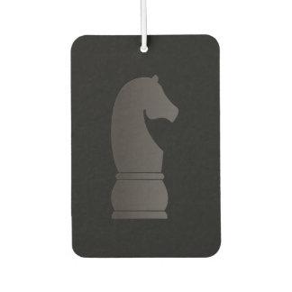 Black knight chess piece car air freshener