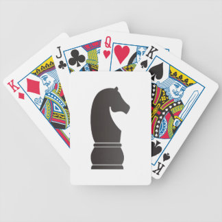 Black knight chess piece poker cards