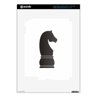 Black knight chess piece skins for iPad 3