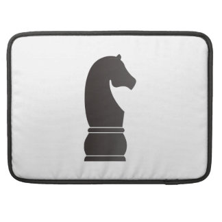 Black knight chess piece sleeves for MacBooks