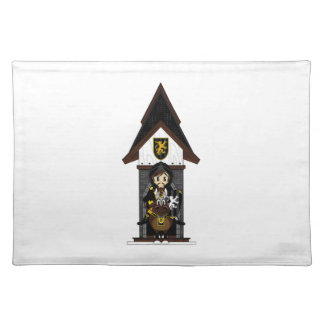Black Knight on Horseback Placemat Cloth Placemat