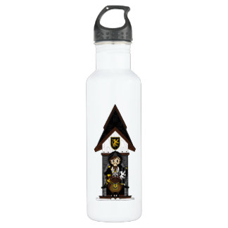 Black Knight on Horseback Stainless Steel Water Bottle