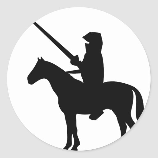 black Knight Round Sticker