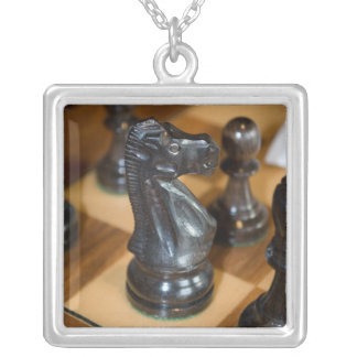 Black Knight Silver Plated Necklace